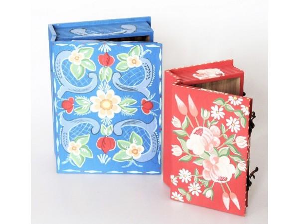 Oferta 2 cutii din lemn pictate manual.