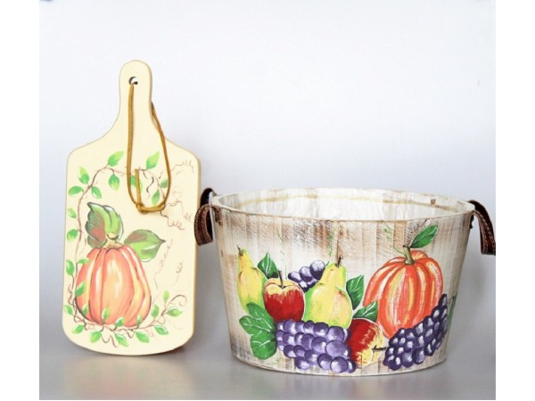 Oferta Tocator decorativ si Cos pentru fructe