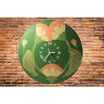 Ceas de lemn pictat manual - diametru 40 cm