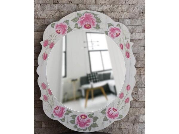 Oglinda de lemn pictata manual(40cm/50cm)