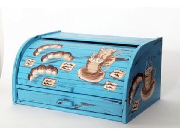 Cutie pentru Paine cu Tocator si Sertar din Lemn